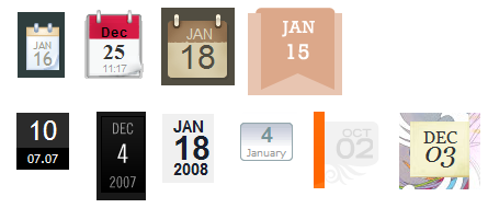 Stacked dates - examples